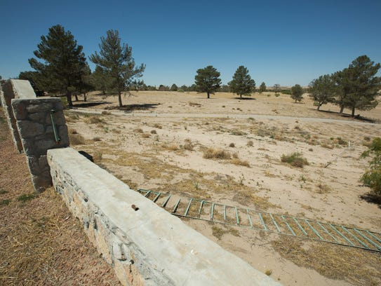 The nearly 148-acre Spanish Dagger Golf Course, part of the Santa Teresa Country Club, pictured here Monday, April 23, 2018, was auctioned by the state last week for $69,000.