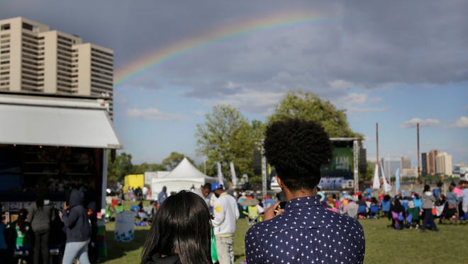 L.I.T.E. Fest - Lead, Innovate, Thrive and Elevate hosted by the Detroit RiverFront Conservancy and Ford Motor Company Fund to honor a select group of 2,000 students and family members featured games and performances before the Ford Fireworks in Detroit on Monday, June 26, 2017.
