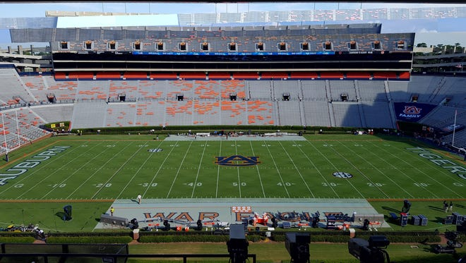 Auburn will look to rebound from last week's loss to Clemson in today's matchup against Arkansas State at Jordan-Hare Stadium.