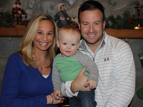 Stephen and Brooke Kendrick with their son, Gus, who