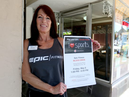 Michele Vanderyacht, with Epic Fitness, is hosting