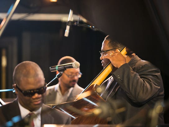 The Marcus Roberts Trio performed at this year's Burlington