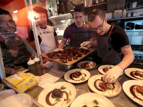 Chef James Rigato of Mabel Gray restaurant in Hazel