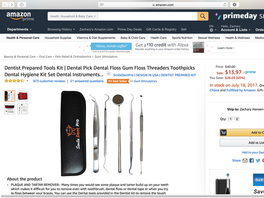 This is a screenshot of Amazon.com during Amazon Prime