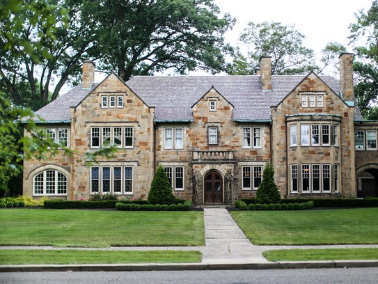 One of the fine mansions in Detroit's historic Boston-Edison