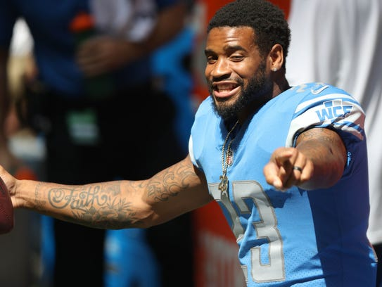 Lions cornerback Darius Slay on the sidelines during