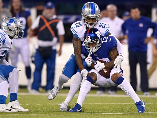 Sep 18, 2017; East Rutherford, NJ, USA; Giants receiver