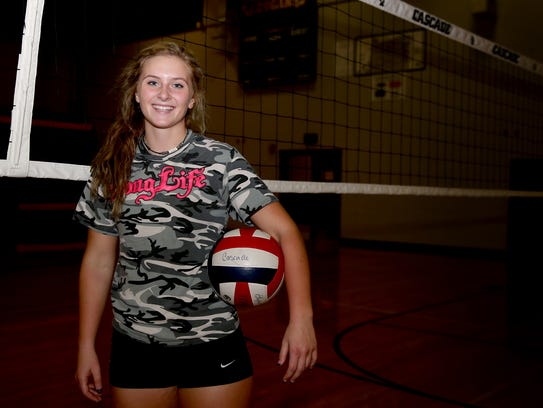 Tori Lewis, a senior volleyball player for Cascade.