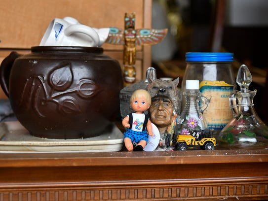 A variety of items in Audra Ellis' garage in Grand