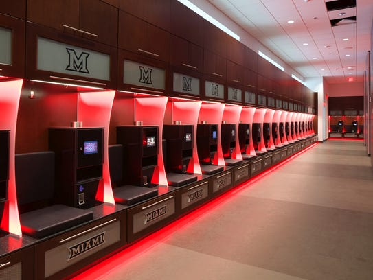 The New Football Locker Room At Miami Universitys