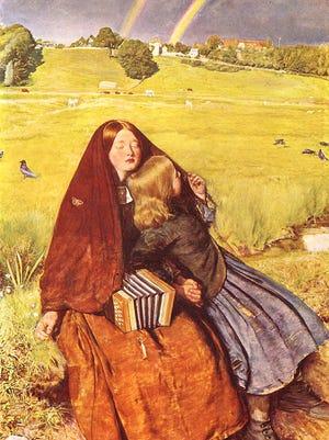 """""""The Blind Girl"""" an allegory of the senses by John Everett Millais"""