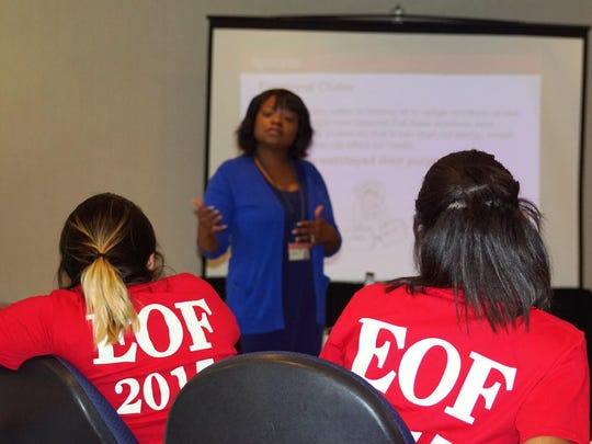 Students at the EOF retreat learn coping strategies