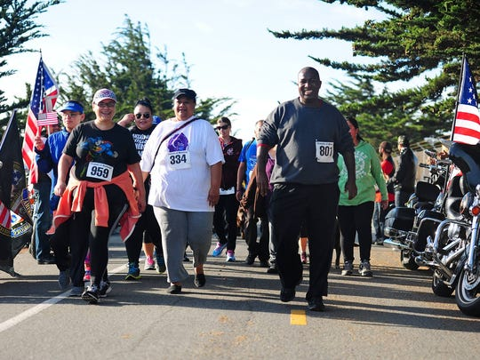 Runners and walkers participate in a past Honor Our Fallen Run at Ft. Ord.