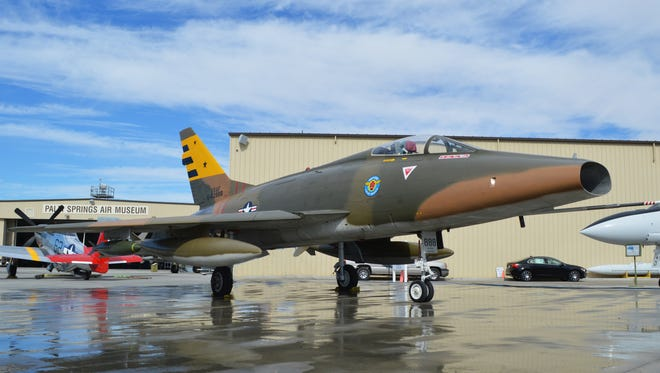 This F-100 supersonic jet is one of several Vietnam era vintage aircraft at the Palm Springs Air Museum.