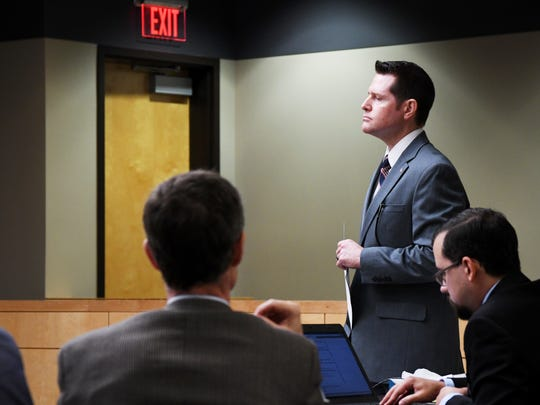 Taney County Prosecutor Jeff Merrell during a preliminary