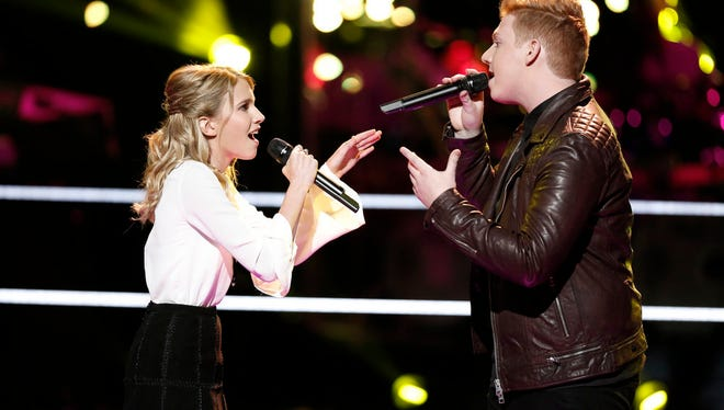 "Caroline Burns and Mike Schiavo on ""The Voice"""