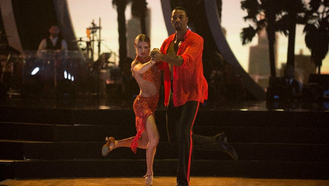 """The nine remaining celebrities ready themselves for one of the hottest nights in the ballroom - Latin Night - with each celebrity performing either a rumba, salsa, samba, paso doblé, cha cha or Argentine tango, on """"Dancing with the Stars,"""" live, MONDAY, OCTOBER 17 (8:00-10:01 p.m. EDT), on the ABC Television Network."""