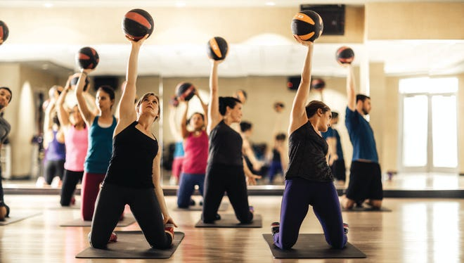 A Life Time Fitness class