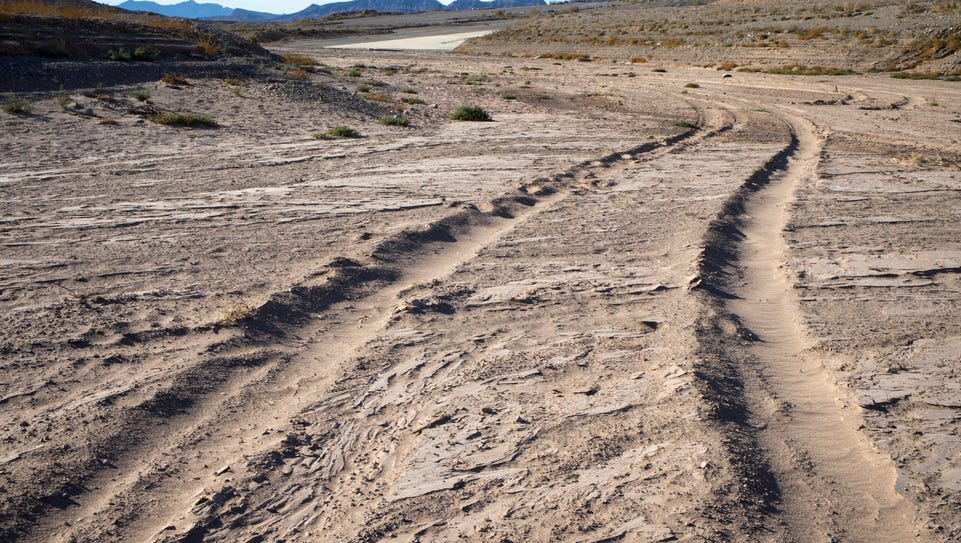 Emblematic of the Southwest's water crisis: A road