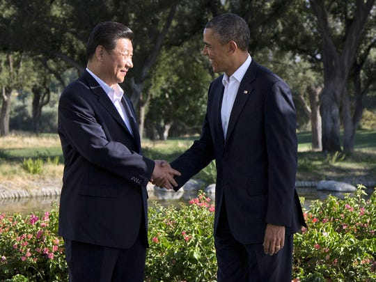 President Barack Obama and Chinese President Xi Jinping met for talks at the Annenberg Retreat at Sunnylands on June 7, 2013, in Rancho Mirage.