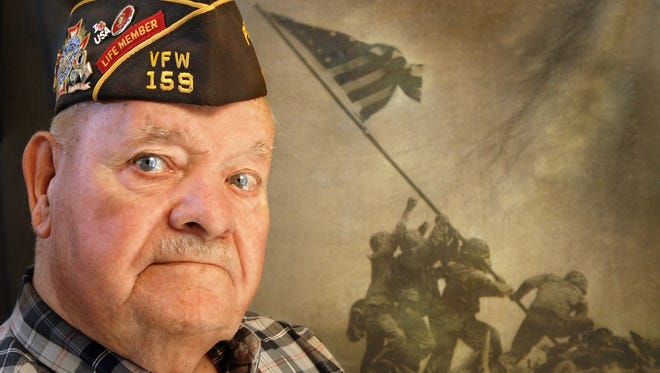 U.S. Marine veteran Marcel Bisson received a purple heart after he was wounded in the Battle of Iwo Jima during World War II. He passed away last month at the age of 93.