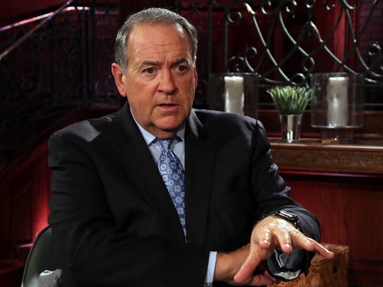 Mike Huckabee photographed at the TBN campus in Hendersonville Oct. 2, 2017 talks about his new show.