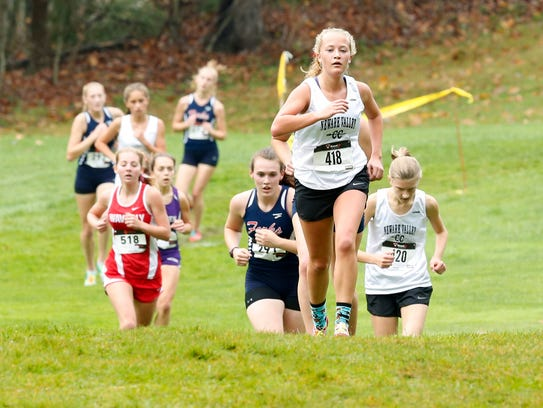 Newark Valley's Kristina Knight leads the pack in the