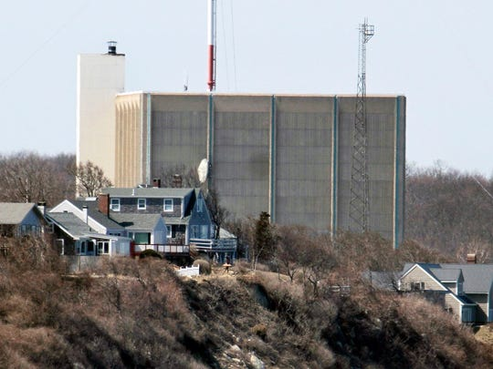 A portion of the Pilgrim Nuclear Power Station sits