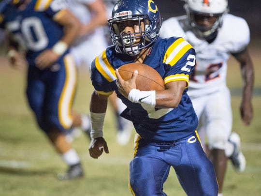 Carencro's Kendarius Poullard is hoping to produce more big plays for the Golden Bears' offense against No. 1 Neville on Friday at the CroDome.