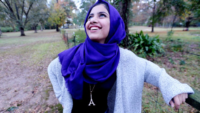 Noor Al-Shaier, a foreign exchange student from Israel, said she's thankful for the chance to study in the United States.