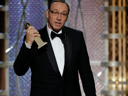 "Kevin Spacey snagged best actor in a TV drama for ""House of Cards."""
