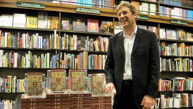 Author James Kennedy at a Rochester Barnes and Noble book reading.