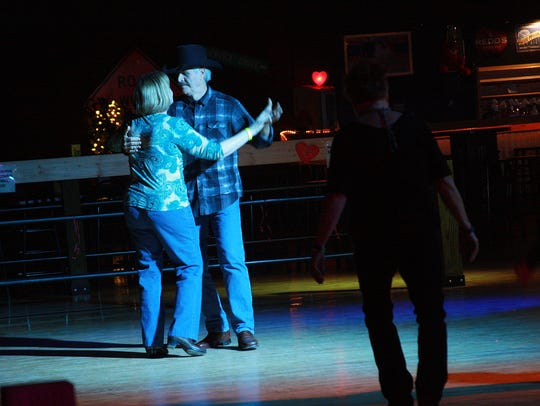 Barbara and Dave McKee enjoy a slow dance together