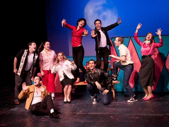 """A photo of Old Creamery Theatre's production of """"Grease"""""""