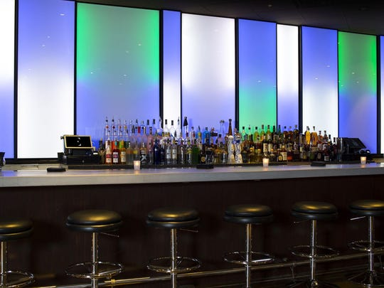 The light wall at Ellure Lounge is an homage to the one that was at Six Lounge.