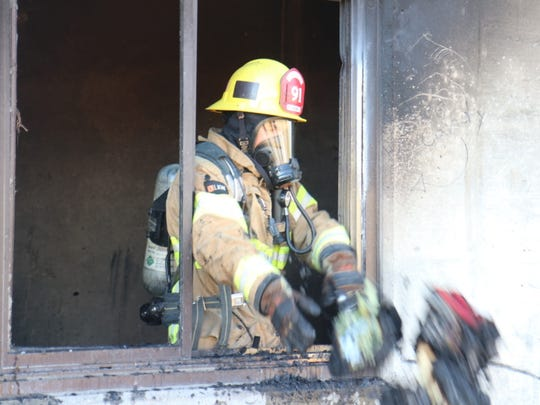 Fillmore firefighters on Thursday put out a blaze that is suspected to have been intentionally set inside an abandoned water treatment plant, officials said.