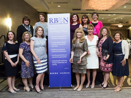 The Rockland Business Women's Network honored three Rockland women at its annual Women of Achievement Breakfast on June 8. Awards were presented to Courtney E. Boniface, Esq. of Cane & Boniface, PC and Dr. Mary Jean Marsico, COO of Rockland BOCES (second from bottom right and third from bottom right respectively) as well as Risa B. Hoag, president, GMG Public Relations, Inc. (fourth from bottom right).