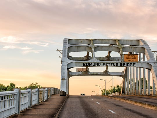 The Edmund Pettus Bridge is a bridge that carries U.S.