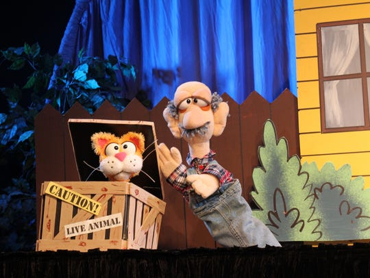 Find out why Mr. Johnson can't seem to get rid of the cat who keeps turning up on his doorstep at the Great Arizona Puppet Theater April 4-8.