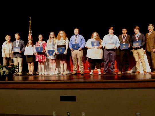 2018 Senior Academic Award winners from Northview High