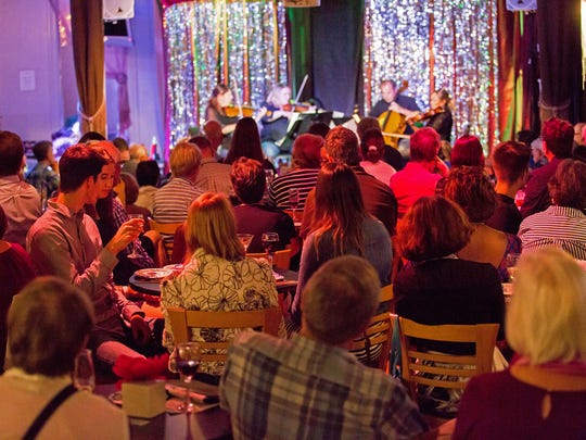 """""""Death by Chocolate"""" was the theme of a 2017 Summermusik performance that took place in the cabaret at Below Zero in Over-the-Rhine. And yes – there was chocolate for everyone who attended."""
