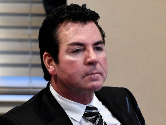 Papa John's founder and former CEO (he resigned Wednesday)