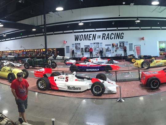 The Century of Indy display at the World of Speed museum in Wilsonville.