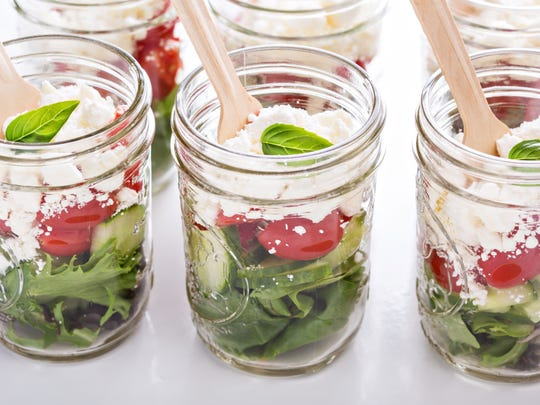 Mason jar salads are the perfect grab-n-go healthy