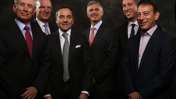 USA TODAY'S Hotel CEO panel, from left, Jim Amorosia,