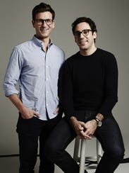 Warby Parker co-founders and co-CEOs Dave Gilboa, left,