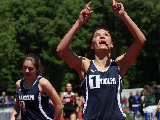 Randolph's Liz Lansing wins the girls Group IV 800m