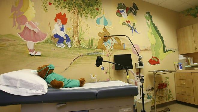 An examination room at the Barbara Sinatra Children's Center in Rancho Mirage.