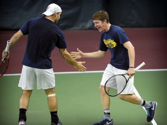 Elco tennis players Adam Bahney and Galen McNaughton not only played like state champions last weekend, they conducted themselves the same way, says columnist Pat Huggins.