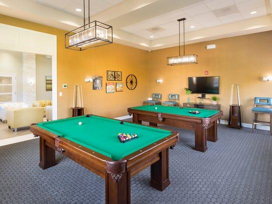 Enjoy billiards, a fitness center, sauna and more active